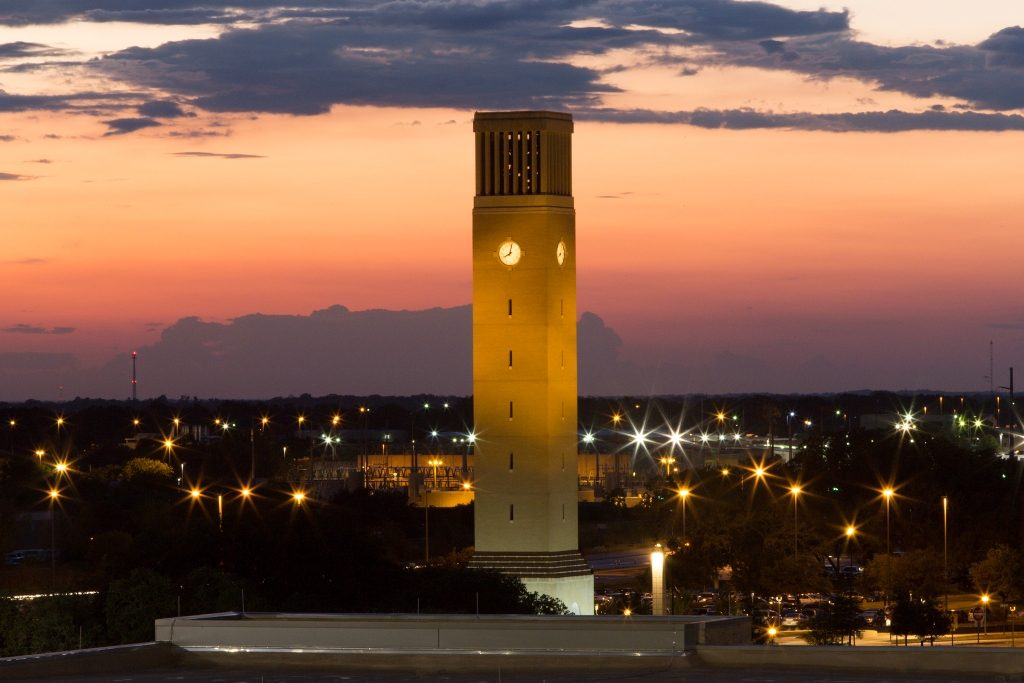 Albritton Bell Tower in Twilight