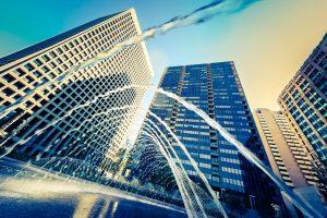 Water fountain & Buildings